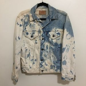 LEVIS vintage bleached trucker jacket M4